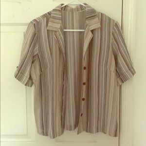 Vintage striped button up